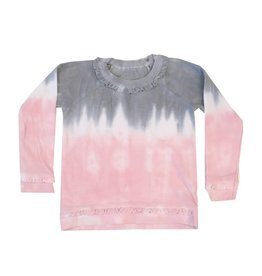Chaser Dip Dye Ruffle Knit Pullover