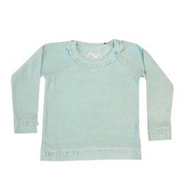 Chaser Aqua Ruffle Knit Pullover