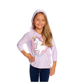 Chaser Unicorn 3/4 Sleeve Hooded Pullover