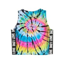 Malibu Sugar Love Trim Blue Tie Dye Tank 7-14