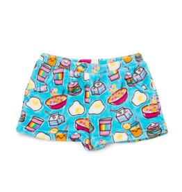 Candy Pink Rainbow Breakfast Plush Shorts