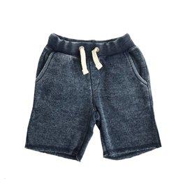 Vintage Havana Distressed Navy Sweat Shorts