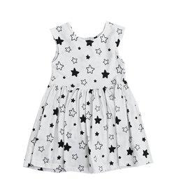 Pink Peony Stars Keyhole Dress