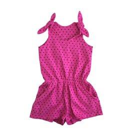 Pink Peony Hearts Romper