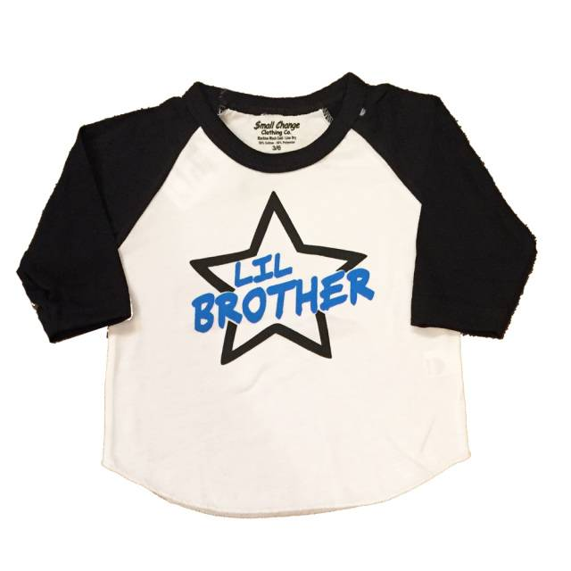 Small Change Little Brother Baseball Tee