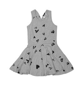 Joah Love Heart Print Twirl Dress