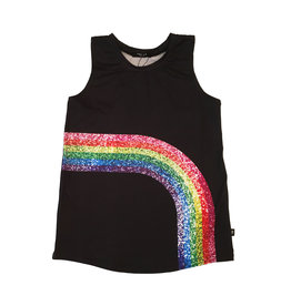 Terez Sparkly Rainbow Muscle Tank