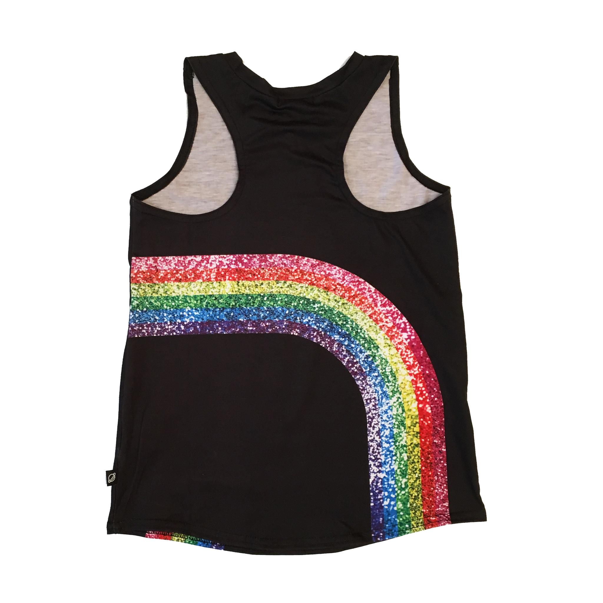 Terez Sparkly Rainbow Muscle Tank