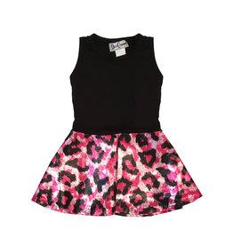 Dori Creations Glitter Pink Leopard Dress
