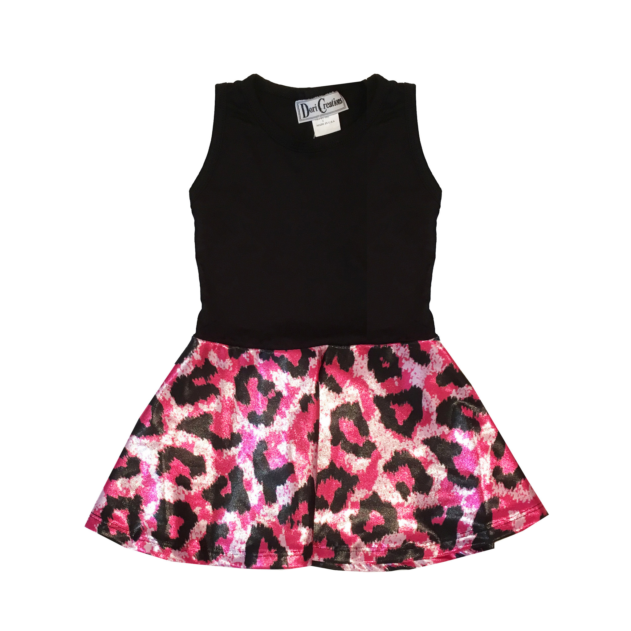 Dori Creations Glitter Pink Leopard Dress