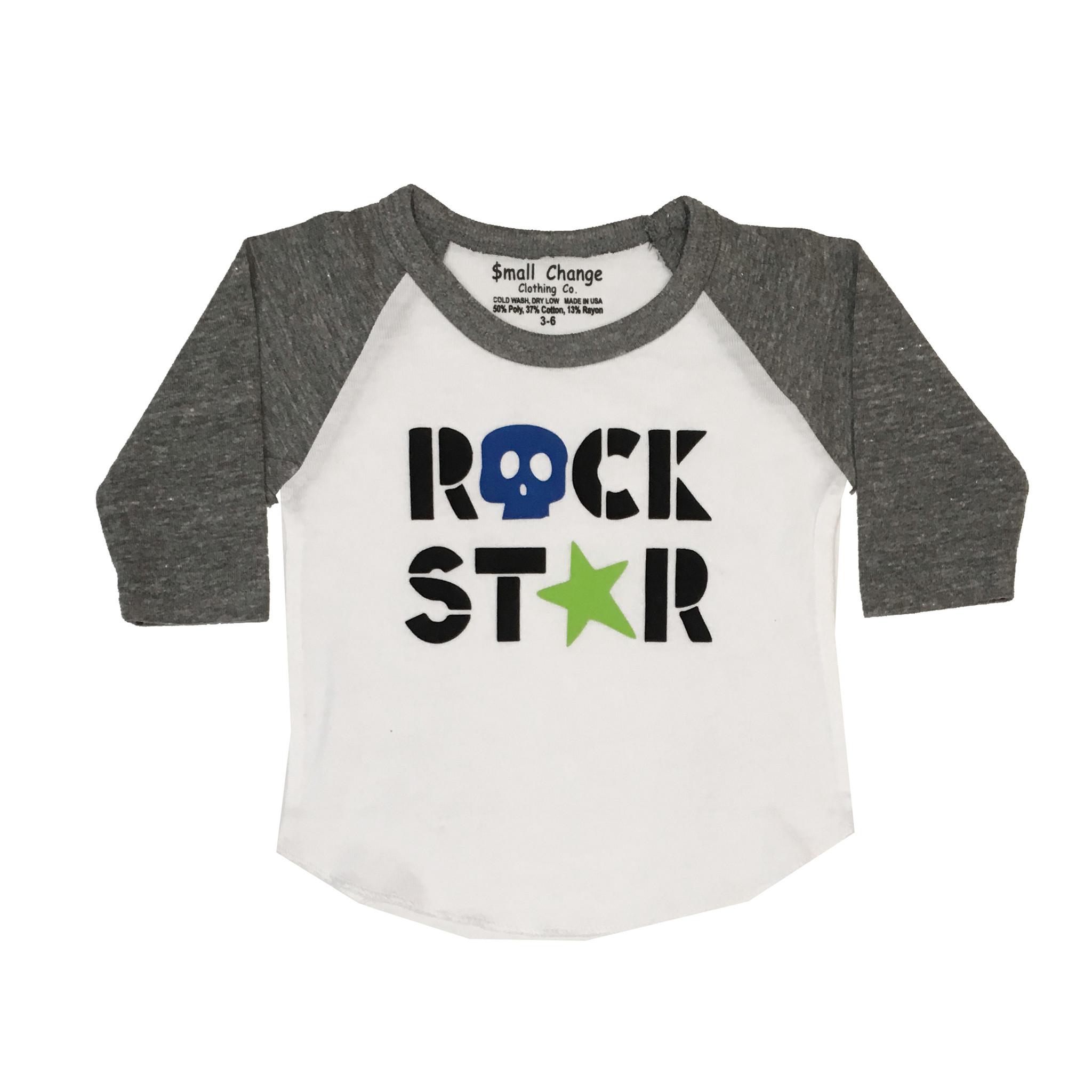 Small Change Rock Star Baseball Tee