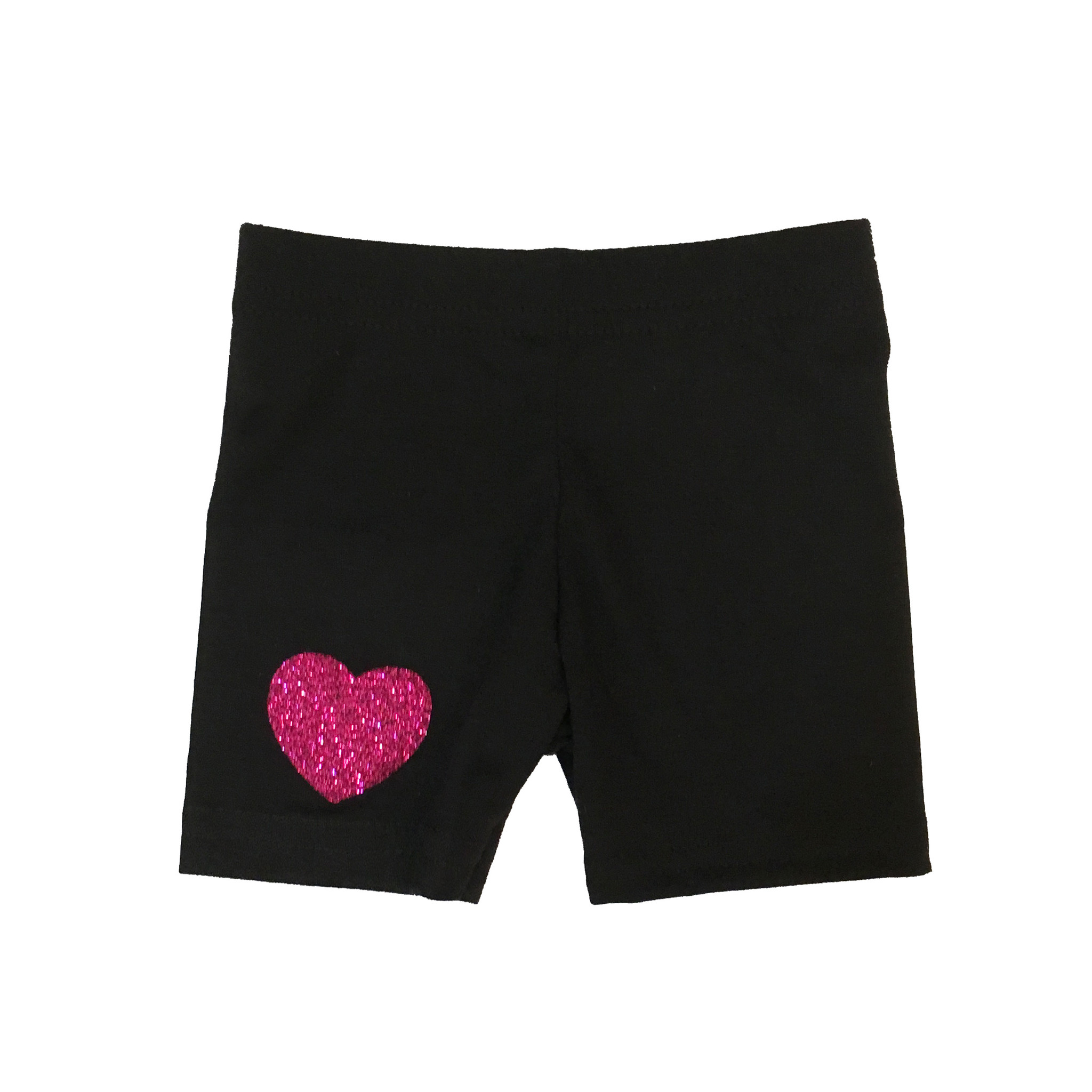 Small Change Pink Glitter Heart Bike Shorts