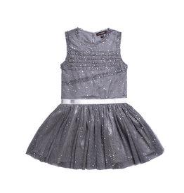 Imoga Silver Splatter Sleeveless Dress