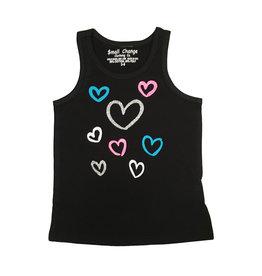 Small Change Toddler Glitter Hearts Tank