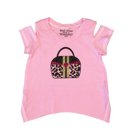 Small Change Toddler Cold Shoulder Purse Tee