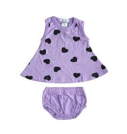 Little Mish Lilac Heart Swing Set