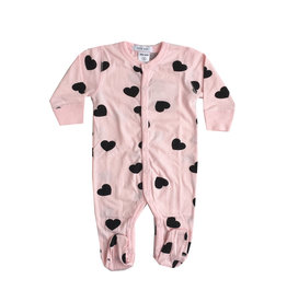 Little Mish Light Pink Heart Footie