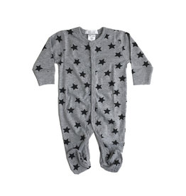 Little Mish Grey Star Footie