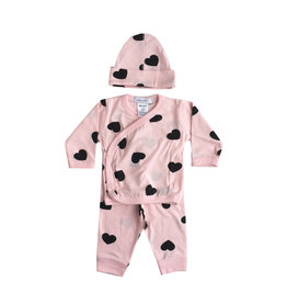Little Mish Light Pink Heart 3pc Set