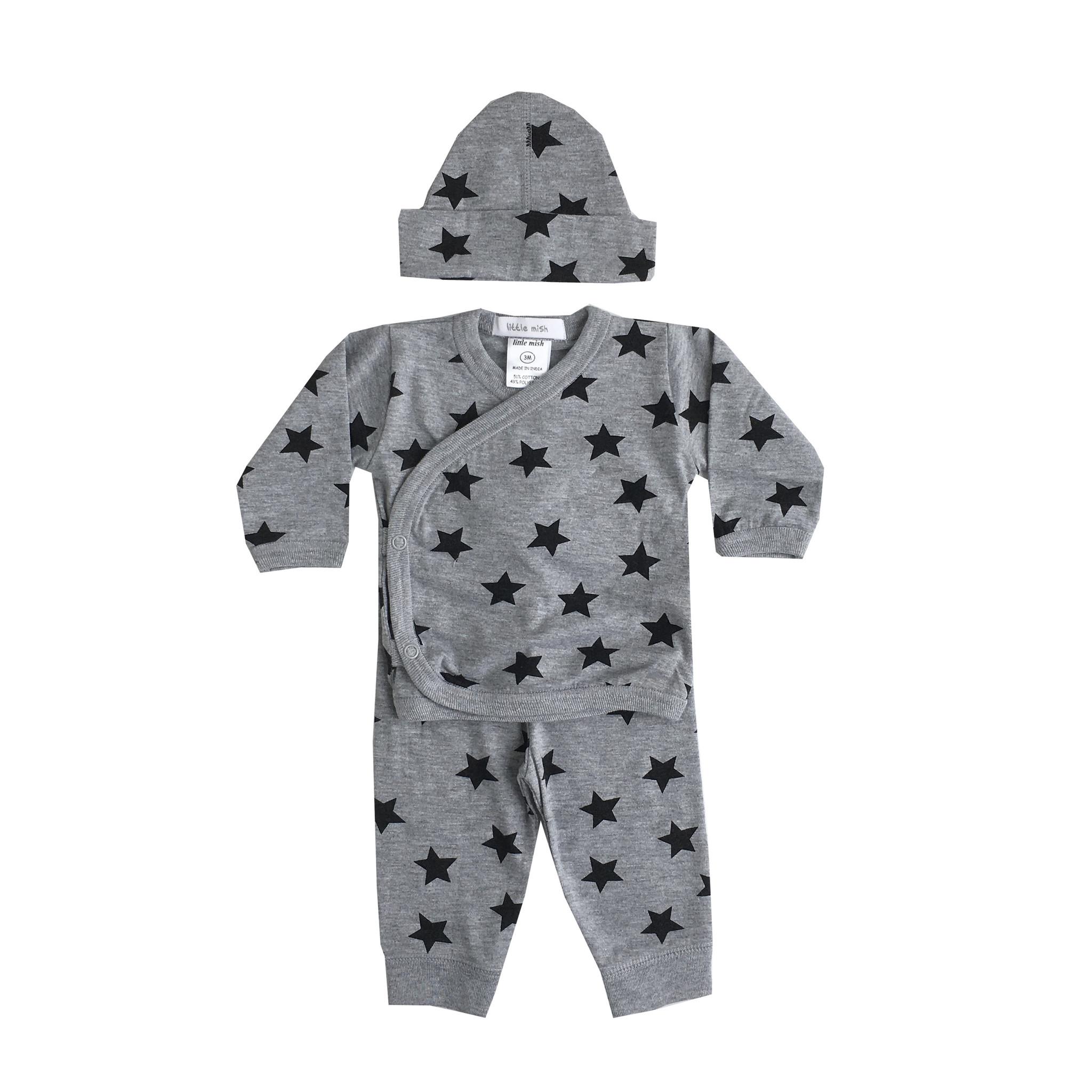 Little Mish Grey Star 3pc Set
