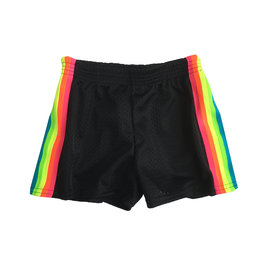 Dori Creations Neon Sports Stripe Mesh Shorts