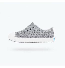 Native Silver Glitter Sneakers