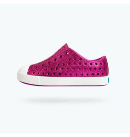Native Hot Pink Glitter Sneakers