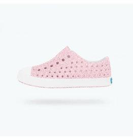Native Light Pink Glitter Sneakers