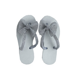 Planet Sea Crystal Bow Flip Flops