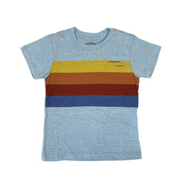 Tiny Whales Sunset Stripe Tee