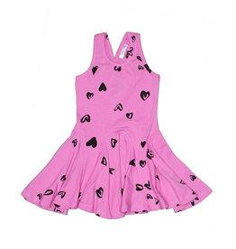 Joah Love Heart Print Twirl Dress