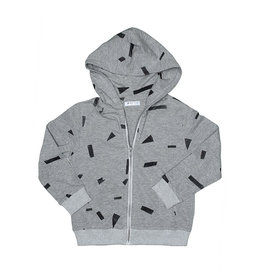 Joah Love Party Print Zip Hoodie