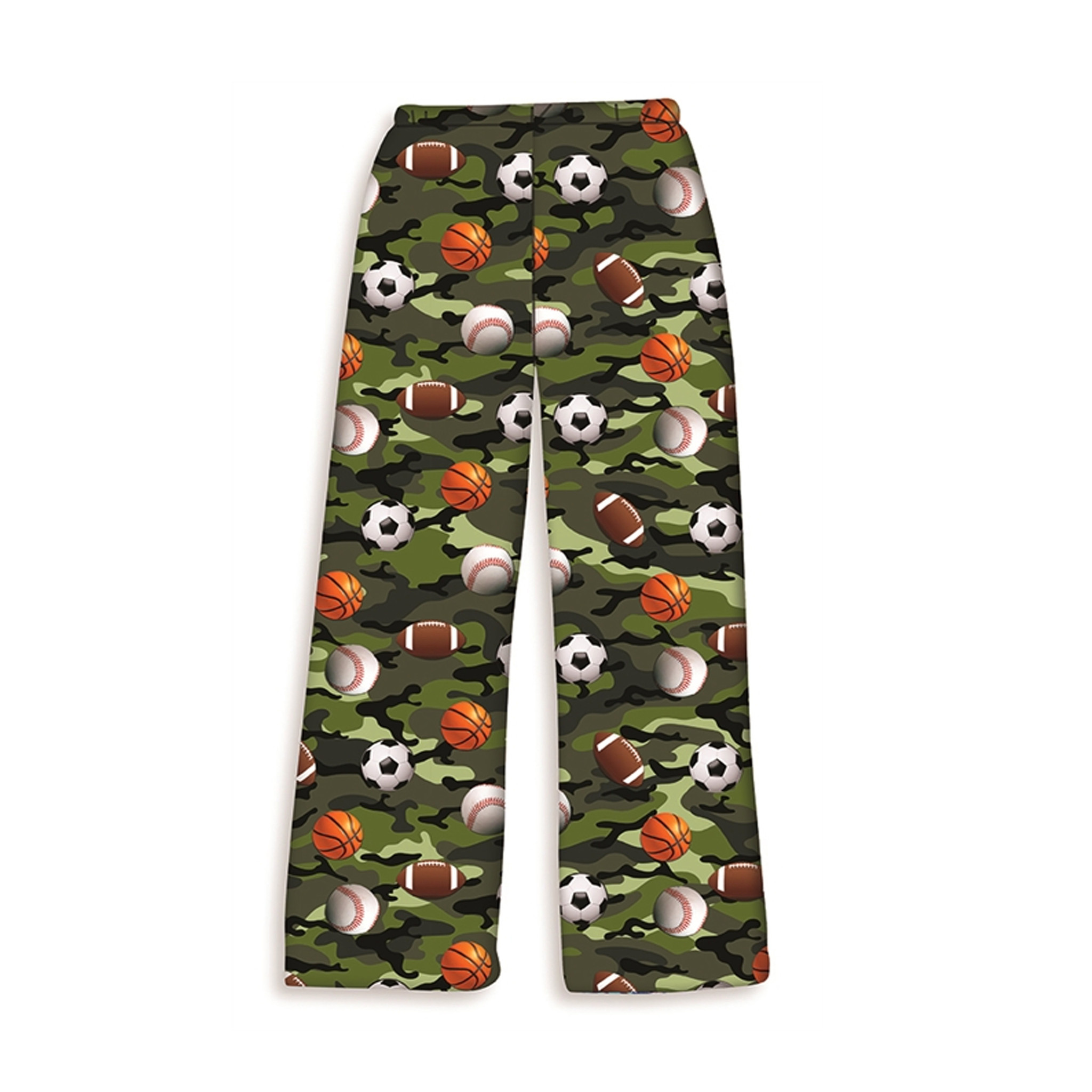 Camo Plush Sports Lounge Pants