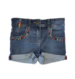 Losan Trimmed-Pocked Denim Shorts