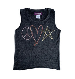 Sparkle Peace Love Star Tank