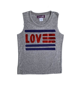 Sparkle Love Flag Tank