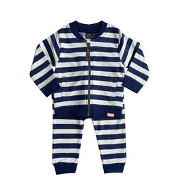 Babyface Blue Striped Sweat Outfit