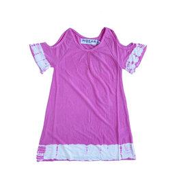 Ingear Tie Dye Cold Shoulder Dress