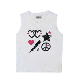Double Heart Icon Tank