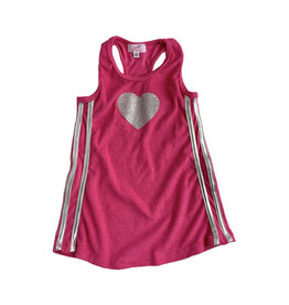 Sofi Toddler Terry Racerback Heart Dress