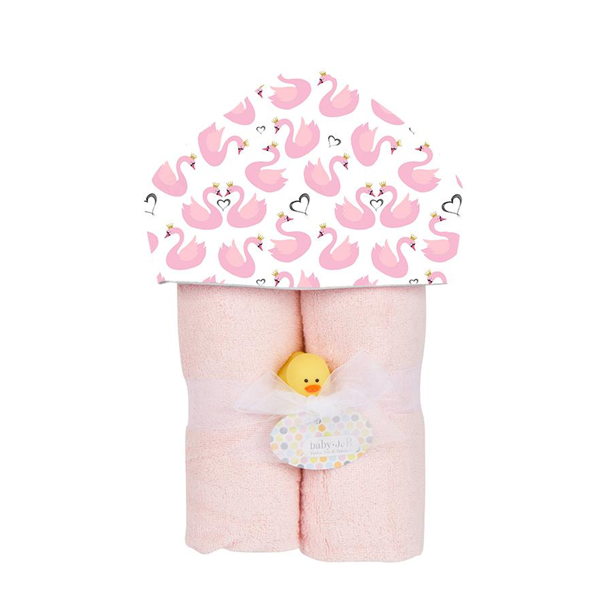 Baby Jar Princess Swans Hooded Towel