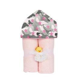 Baby Jar Pink Camo Hooded Towel