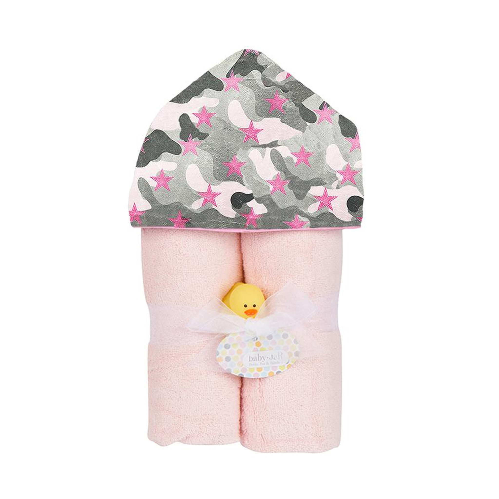 Baby Jar Pink Camo Hooded Towel