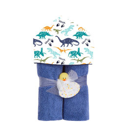 Baby Jar Dinosaurs Hooded Towel