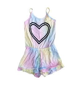 Flowers by Zoe Pastel Tie Dye & Heart Romper