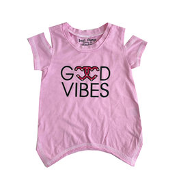 Small Change Good Vibes Cold Shoulder Tee