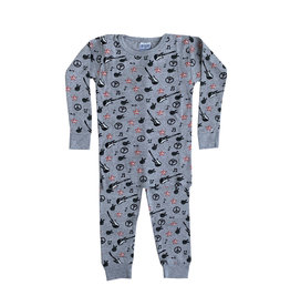 Baby Steps Grey Guitars PJ Set