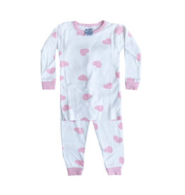 Baby Steps Light Pink Hearts PJ Set