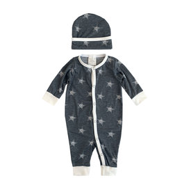 Too Sweet Charcoal Stars Coverall & Hat