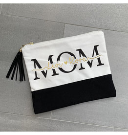Custom Kids Names Mom Zip Pouch